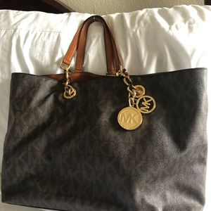 MIchael Kor signature MK logo handbag